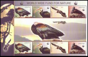 Lesotho WWF Southern Bald Ibis Birds Sheetlet of 2 sets SG#MS1938 MI#1895-1898