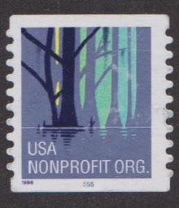 US #3207Ab Wetlands Used PNC Single plate #5555