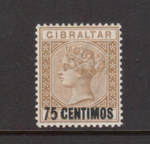 Gibraltar SG #21a VF Mint 5 With Short Foot Variety