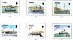 Jersey Sc 975-80 2001 Jersey-France steamship stamp set used