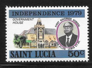St Lucia Mint Never Hinged [4172]