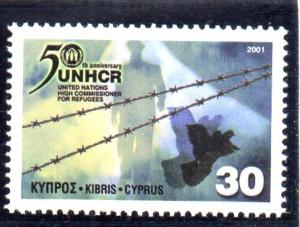 Cyprus Sc 975 2001 Refugees stamp mint NH