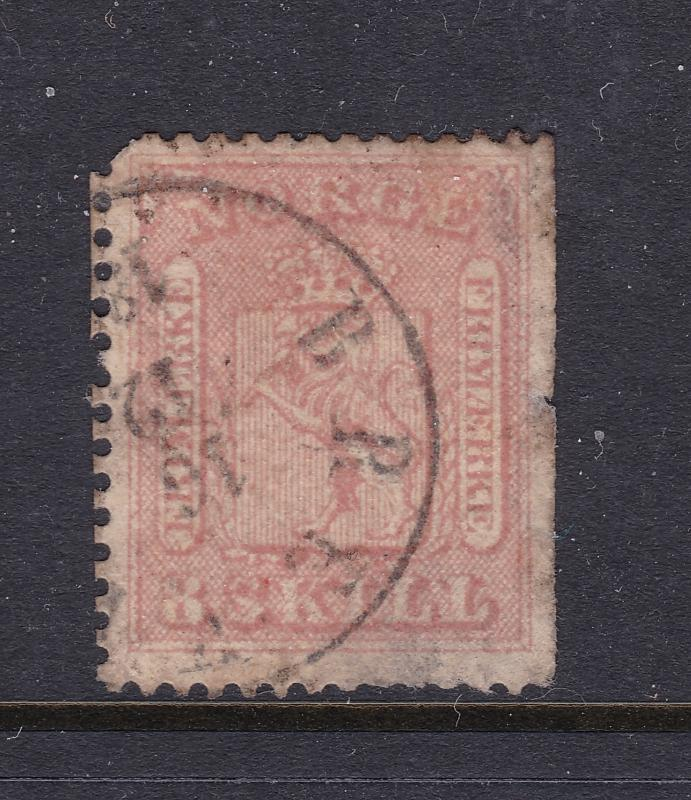 Norway a 8Sk from 1863 used