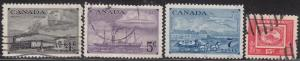 Canada 311-314 USED 1951 Postage Stamp Centenary