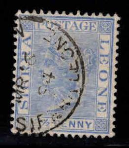 Sierra Leone Scott 27 Used Victoria stamp nice color and cancel