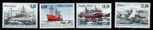 Greenland Scott 452-55 2005 Ships stamp set  mint NH
