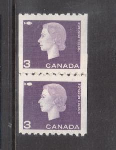 Canada #407 VF/NH Repair Paste Up Pair