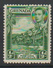 Grenada  GVI   SG 153a perf 12½ Mounted mint blue green