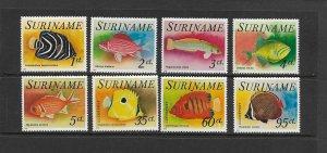 FISH - SURINAME #447-51, C55-7   MNH