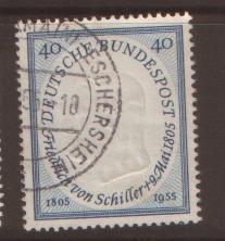 West Germany 1955 Schiller SG 1136 fine used