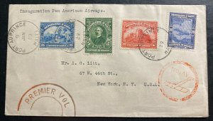 1929 Santo Domingo Haiti First Flight Airmail Cover FFC To New York USA