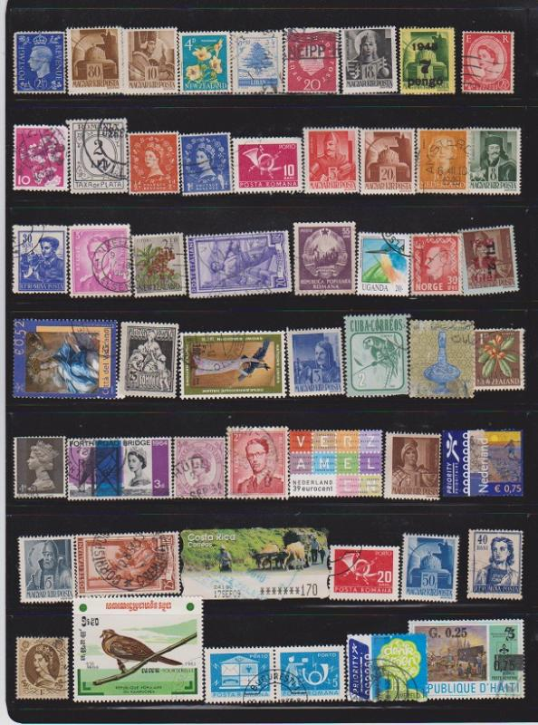 LOT OF DIFFERENT STAMPS OF THE WORLD USED (43) LOT#111
