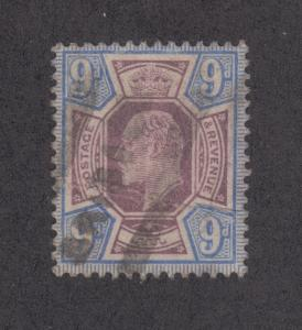 Great Britain Sc 136 used 1902 9p KEVII, VF appearing