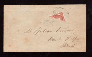 New Brunswick #9a Used Rare Bisect On Cover **With Certificate**
