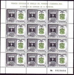 Andorra. 1982. Small sheet 159. Stamps on stamps. MVLH.