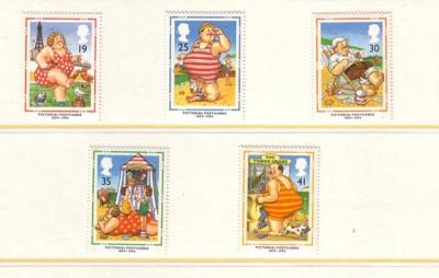 Great Britain Sc 1553-7 1994 Picture Postcards stamps NH