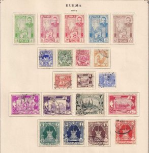 BURMA  INTERESTING COLLECTION ON ALBUM PAGES - Y773