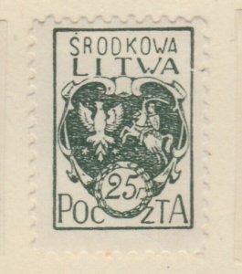 Central Lithuania Mittellitauen Lituanie Lituania 1921 25f MH* A8P11F133