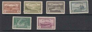 CANADA KSGKK(55) # 268-273 VF-MNH KGV1 PEACE ISSUES CAT VALUE $150