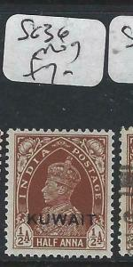 KUWAIT   (PP2704B) ON  INDIA KGVI  1/2A  SG 36  MOG