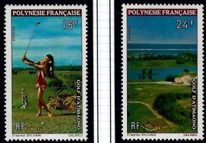 French Polynesia Sc #275-76 MNH VF...Polynesia is Unique!