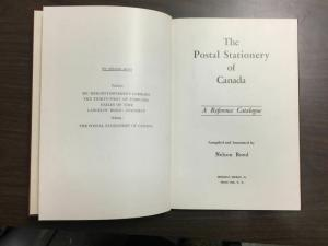 THE POSTAL STATIONERY OF CANADA, FIRST EDITION, 1953