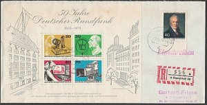 GERMANY 1974 Registered cover - nice franking...............................B378