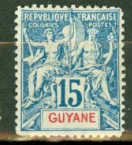 French Guiana 39 mint Fournier forgery CV $42.50