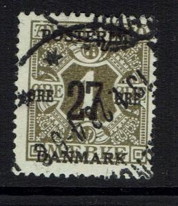 Denmark SC# 145, Used, small Hinge Remnant -  Lot 032117