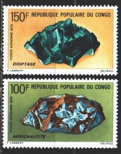 Brazzaville. 1970. 230-31. Minerals, geology. MNH.
