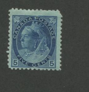 1899 Canada 5 Cent Blue Stamp Scott #79 Queen Victoria CV $220