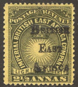 KUT 1895 2.5a Black on yellow BEA OPT SG 36 Scott 41 LMM/MLH Cat £200($266)