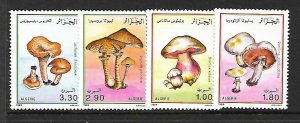 Algeria MNH 908-11 Mushrooms