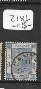 HONG KONG TREATY PORT (PP0502B)  CANTON QV   10C    SG Z181    SON CDS  VFU