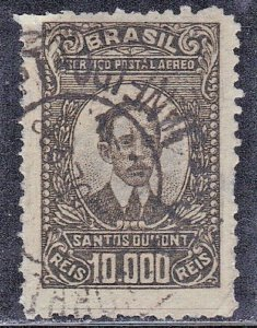 BRAZIL SC# C24 **USED** 10,000r  1929-30  AIRMAIL  SEE SCAN