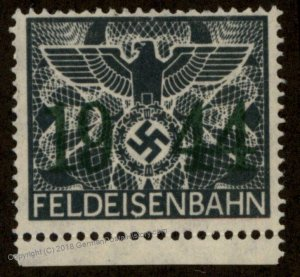 Germany 1944 GGov Poland MNG Feldeisenbahn Fee Stamp 92862