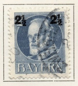 Bayern Bavaria 1914-18 Early Issue Fine Used 2.5pf. Surcharged NW-120696