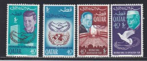 Qatar # 100-100C, International Cooperation Year, NH, 1/2 Cat.