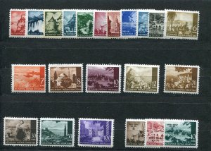 CROATIA GERMAN PUPPET STATE 1941-43 VIEWS + OVPTS SCOTT 30-48 49-51 PERFECT MNH