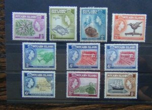 Pitcairn Island 1957 - 63 to 1s LMM (1/2d & 2d gum imperfections see photo)
