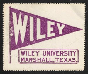 Wiley University - Marshall, Texas - Poster Stamp (Early 20th Century)