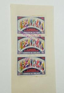 O) 1940 BOLIVIA, FLAGS OF 21 AMERICAN REPUBLIC - PAN AMERICAN UNION 150TH ANNIVE