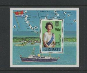 Kiribati #417 (1982 Royal Visit sheet) VFMNH SPECIMEN overprint