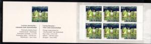 Latvia Sc 553a 2002 Jaunsudrabins Korea stamp bklt mint NH