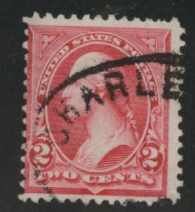 USA Scott 252 Used 1894 Washington type III stamp