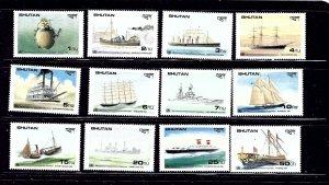 Bhutan 737-48 MNH 1989 Ships