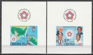 Liberia #769-70 MNH Imperf Sheets (A17558)