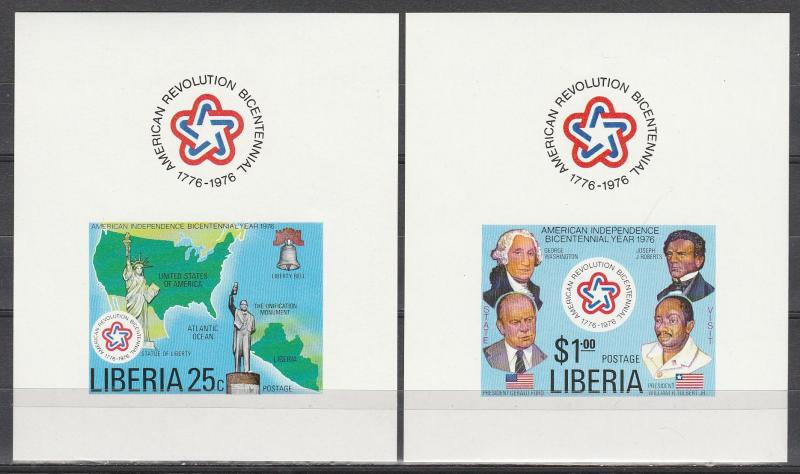 Liberia #769-70 MNH Imperf Sheets (A17558)