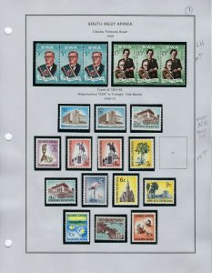 SOUTH WEST AFRICA ALMOST COMPLETE 1968-1989/ MINT 85% NH/LIGHTHOUSE BINDER/DUST