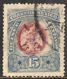 MEXICO 299, 15cents EAGLE COAT OF ARMS. USED. VF. (191)